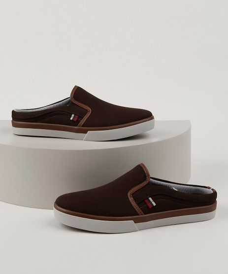 Tenis-Slip-On-Mule-Masculino-Oneself-Marrom-9959613-Marrom_1