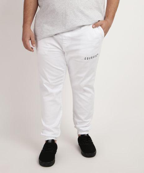 Calca-de-Moletom-Masculina-Plus-Size-Jogger---Couragem--com-Bolso-Branca-9958948-Branco_1