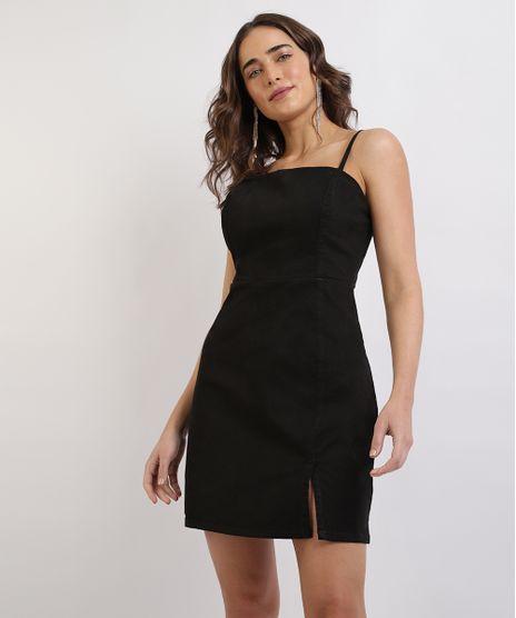Vestido-Feminino-Mindset-Curto-Alcas-Finas-com-Fenda-Preto-9960922-Preto_1