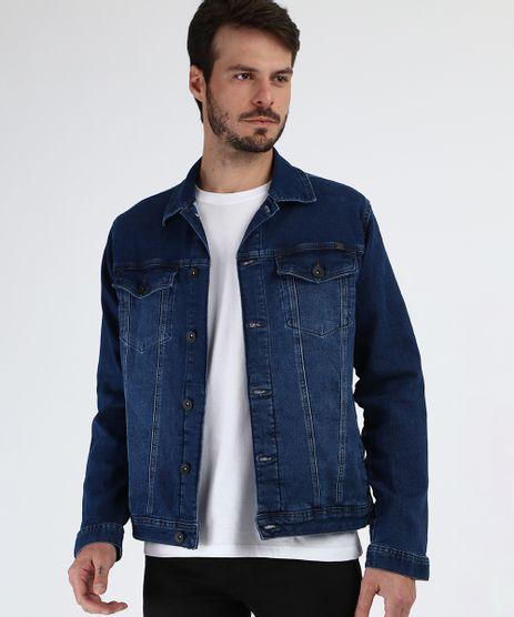 Jaqueta-Jeans-Masculina-com-Bolsos-Azul-Escuro-9954912-Azul_Escuro_1