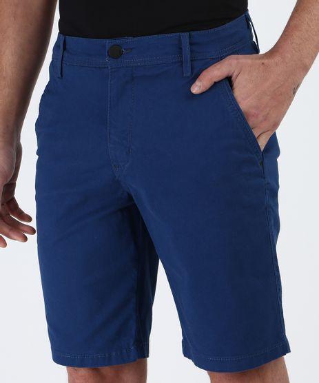 Bermuda-de-Sarja-Masculina-Slim-Chino-Azul-9956021-Azul_1