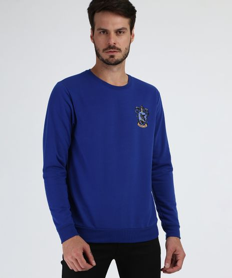 Blusao-de-Moletom-Masculino-Ravenclaw-Harry-Potter-Gola-Careca-Azul-Marinho-9956326-Azul_Marinho_1