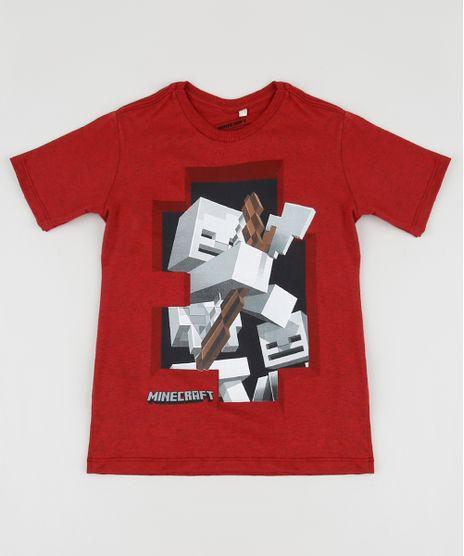Camiseta-Infantil-Minecraft-Zumbi-Manga-Curta-Vermelha-9952837-Vermelho_1