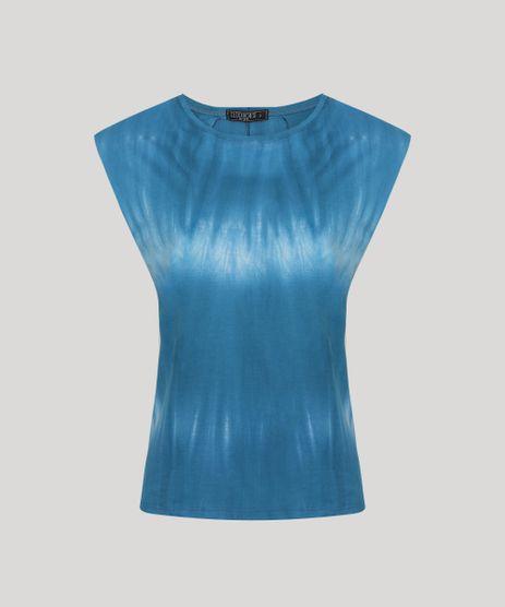 Regata-Muscle-Tee-Feminina-Estampada-Tie-Dye-com-Ombreiras-Decote-Redondo-Azul-9955022-Azul_1