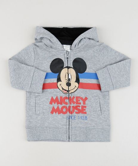 Blusao-De-Moletom-Infantil-Mickey-com-Capuz-Cinza-Mescla-9792633-Cinza_Mescla_1