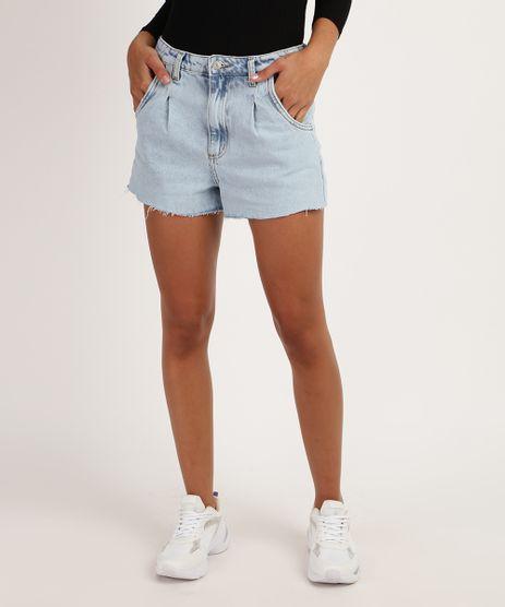 Short-Jeans-Feminino-Mom-Cintura-Super-Alta-com-Barra-Desfiada-Azul-9950712-Azul_1