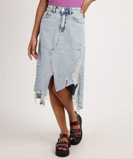 Saia-Jeans-Feminina-Midi-Assimetrica-Destroyed-Azul-9950714-Azul_1