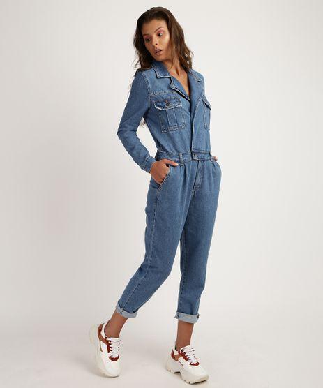 Macacao-Jeans-Feminino-com-Bolsos-Manga-Longa--Azul-Medio-9951535-Azul_Medio_1