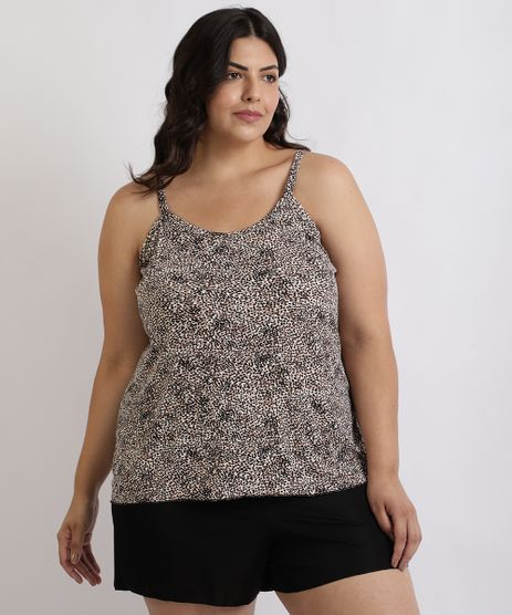 Pijama-Feminino-Mindset-Plus-Size-Regata-Estampada-de-Animal-Print-Onca-Alcas-Finas-Marrom-9957257-Marrom_1