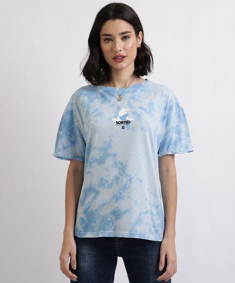 Blusa-Feminina--Ravenclaw--Harry-Potter-Estampada-Tie-Dye-Manga-Curta-Decote-Redondo--Azul-9955678-Azul_1