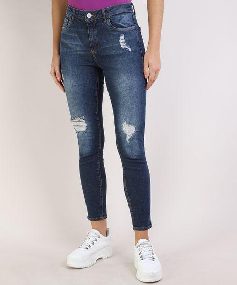 Calca-Jeans-Feminina-Cigarrete-Cintura-Media-Destroyed--Azul-Escuro-9932023-Azul_Escuro_1
