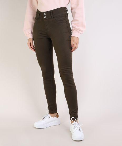 Calca-de-Sarja-Feminina-Super-Skinny-Pull-Up-Cintura-Media-Verde-Escuro-9933560-Verde_Escuro_1