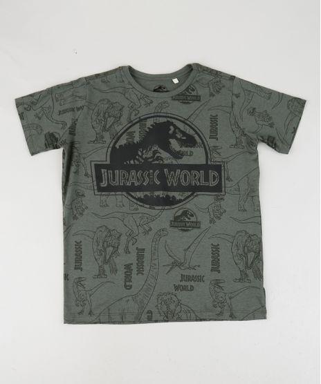 Camiseta-Juvenil-Jurassic-World-Manga-Curta-Verde-9952721-Verde_1