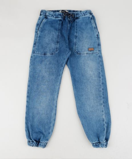 Calca-Jeans-Infantil-Jogger-Cargo-Azul-9959707-Azul_1