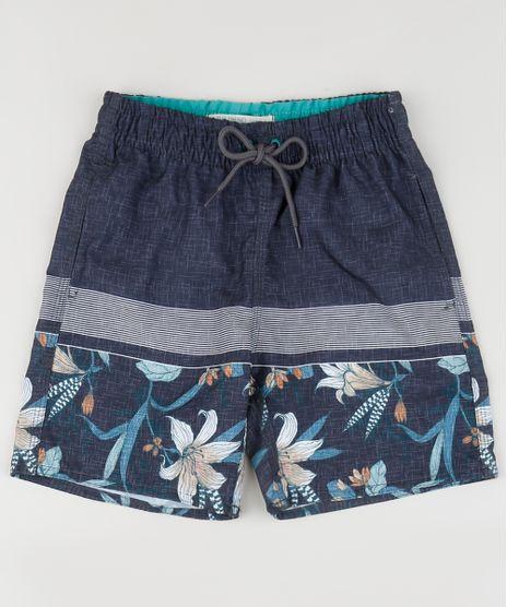 Bermuda-Surf-Infantil-Estampada-Floral-com-Bolso--Multicor-9914711-Multicor_1