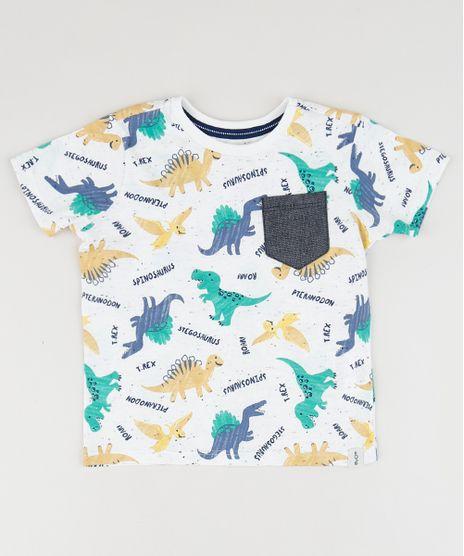 Camiseta-Infantil-Estampada-de-Dinossauro-com-Bolso-Manga-Curta-Gola-Careca-Off-White-9954947-Off_White_1