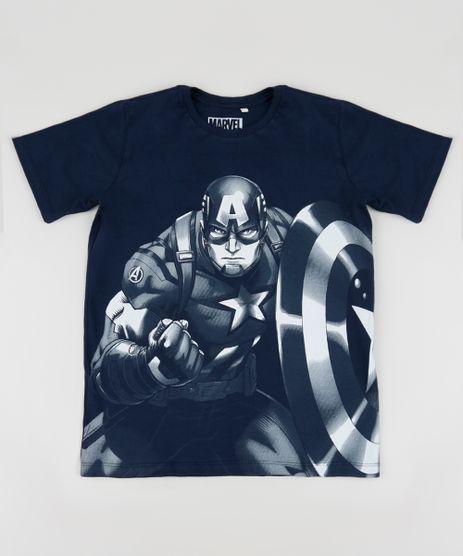 Camiseta-Juvenil-Capitao-America-Manga-Curta-Gola-Careca-Azul-Marinho-9954901-Azul_Marinho_1