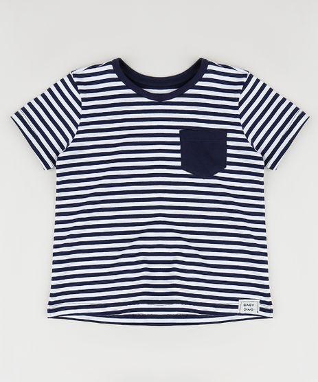 Camiseta-Infantil-Listrada-com-Bolso-Manga-Curta-Azul-Marinho-9955700-Azul_Marinho_1