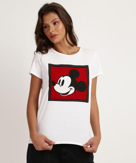 Blusa-Feminina-Mickey-Mouse-Manga-Curta-Decote-Redondo-Off-White-9850847-Off_White_1