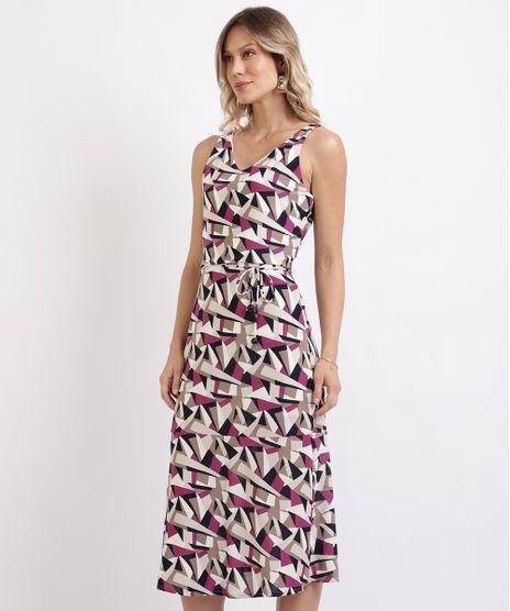 Vestido-Feminino-Midi-Estampado-Geometrico-com-Faixa-para-Amarrar-sem-Manga-Branco-9952714-Branco_1