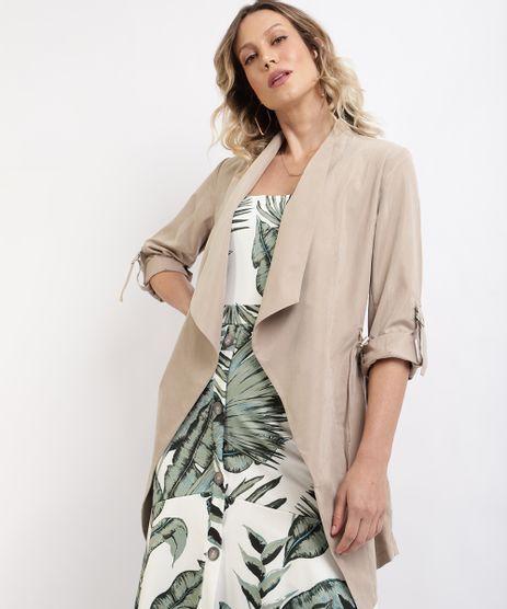 Capa-Feminina-Transpassado-com-Cordao-para-Amarrar-Bege-9814320-Bege_1