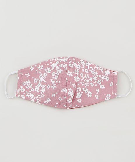 Mascara-de-Tecido-Reutilizavel-para-Protecao-Individual-Infantil-Estampado-Floral-Rosa-9952457-Rosa_1