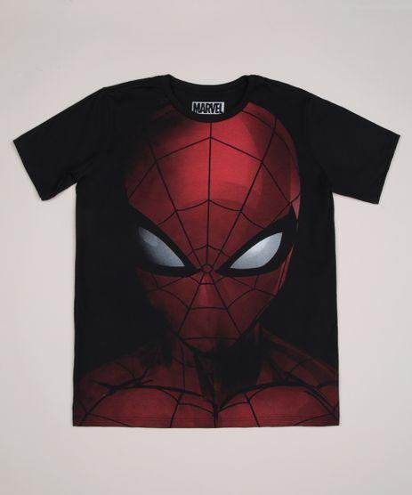 Camiseta-Juvenil-Homem-Aranha-Gola-Careca-Preta-9953708-Preto_1