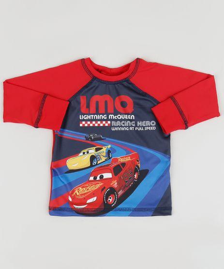 Camiseta-de-Praia-Infantil-Carros-Manga-Longa-Raglan-Gola-Careca-Vermelha-9902302-Vermelho_1