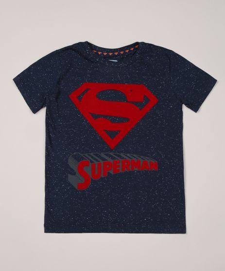 Camiseta-Infantil-Super-Homem-Manga-Curta-Gola-Careca-Azul-Marinho-9954595-Azul_Marinho_1