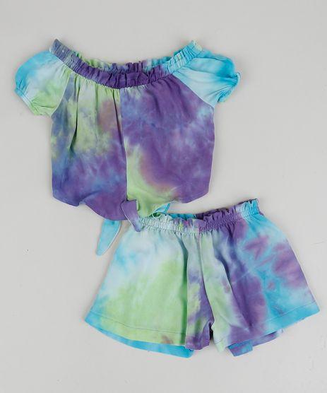Conjunto-Infantil-Estampado-Tie-Dye-de-Blusa---Short-Multicor-9959598-Multicor_1