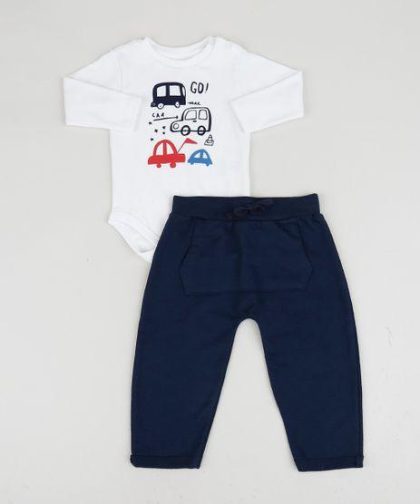 Conjunto-Infantil-Body-Branco-Carrinhos-Manga-Longa---Calca-com-Bolso-Canguru-Azul-Marinho-9929728-Azul_Marinho_1