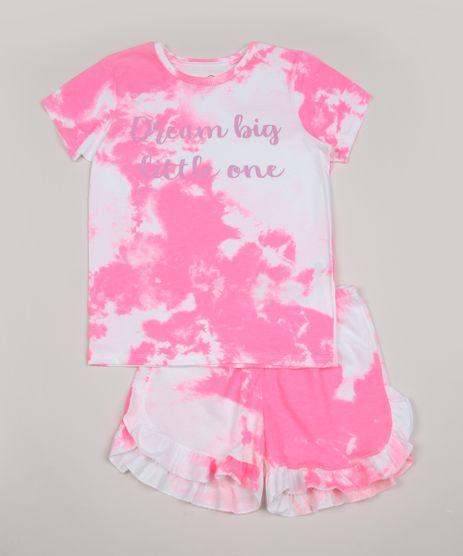 Pijama-Infantil--Dream-Big-Little-One--Estampado-Tie-Dye-Manga-Curta-Multicor-9957860-Multicor_1