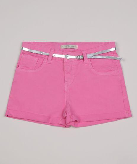 Short-Color-Infantil-Barra-dobrada-com-Cinto-Metalizado--Rosa-9957899-Rosa_1