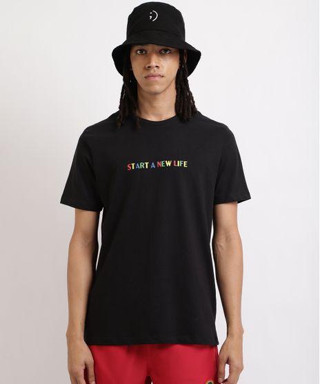 Camiseta-Masculina--Start--Manga-Curta-Gola-Careca-Preta-9959851-Preto_1