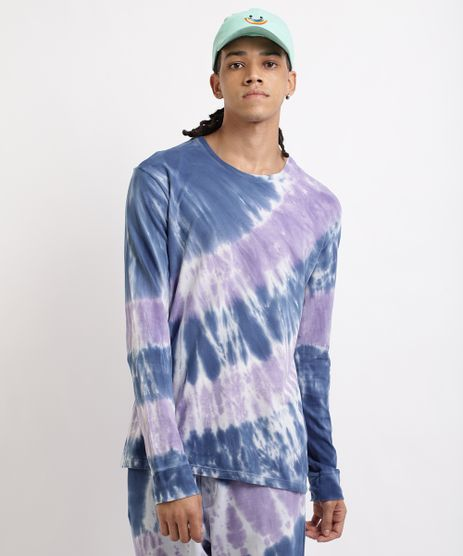 Camiseta-Masculina-Estampada-Tie-Dye--Gola-Careca-Manga-Longa-Roxa-9958553-Roxo_1