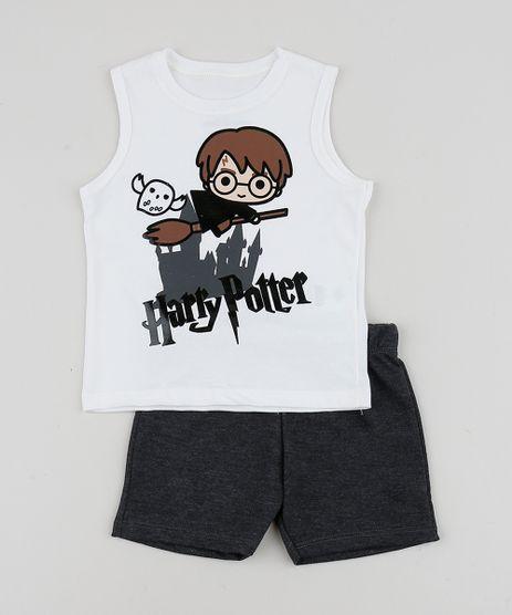 Conjunto-Infantil-de-Regata-Harry-Potter---Bermuda-em-Moletom-Branco-9952697-Branco_1