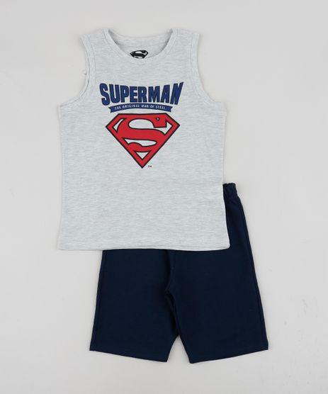 Conjunto-Infantil-de-Regata---Bermuda-Super-Homem-em-Moletom-Cinza-9953309-Cinza_1