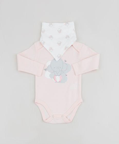 Body-Infantil-Elefante-Manga-Longa---Babador-Estampado-Rosa-Claro-9834053-Rosa_Claro_1