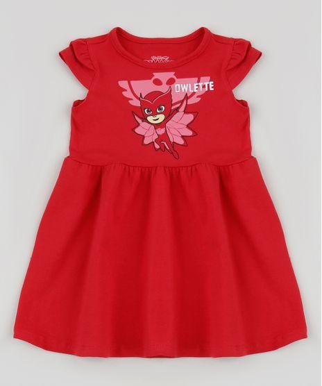 Vestido-Infantil-PJ-Masks-Manga-Curta-Vermelho-9944285-Vermelho_1