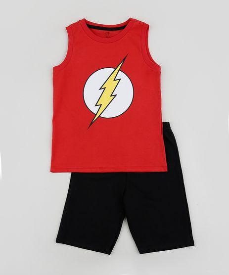 Conjunto-Infantil-Regata-Flash-Vermelha---Bermuda-Preto-9953308-Preto_1