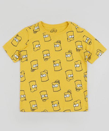 Camiseta-Infantil-Bart-Simpsons-Estampada-Manga-Curta-Amarela-9952364-Amarelo_1
