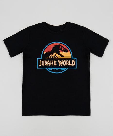 Camiseta-Infantil-Jurassik-World-Manga-Curta-Gola-Careca-Preta-9952991-Preto_1