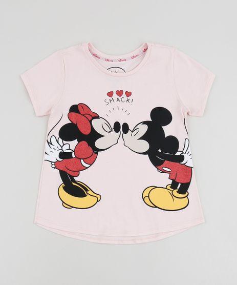 Blusa-Infantil-Mickey-e-Minnie-Manga-Curta-Rosa-9953533-Rosa_1
