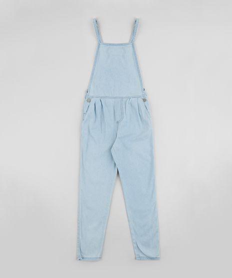 Macacao-Jeans-Infantil-com-Botoes-Alcas-Finas-Azul-Claro-9958710-Azul_Claro_1