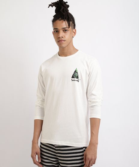 Camiseta-Masculina-Triangulo-com-Folhagem-Manga-Longa-Gola-Careca-Branca-9960001-Branco_1