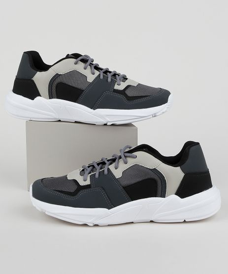Tenis-Masculino-Oneself-Sneaker-Chunky-com-Recortes-Chumbo-9958487-Chumbo_1