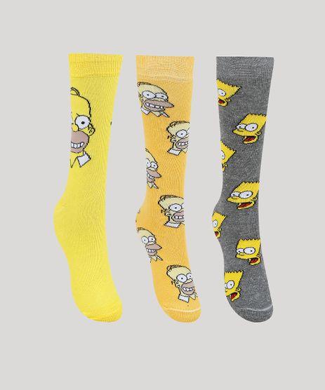 Kit-de-3-Meias-Masculinas-Cano-Alto-Os-Simpsons-Multicor-9960948-Multicor_1