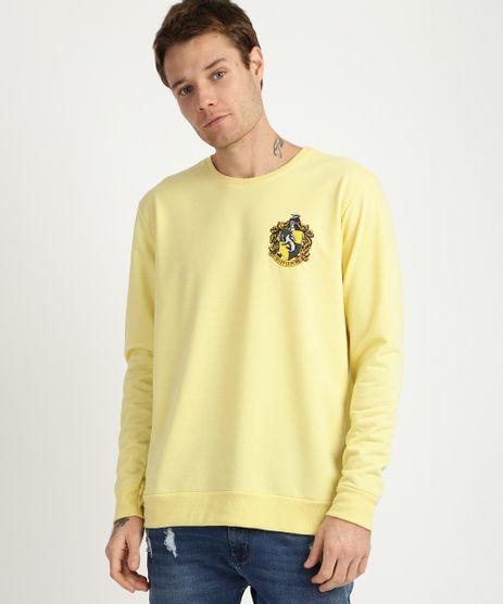 Blusao-de-Moletom-Masculino-Hufflepouf-Harry-Potter-Gola-Careca-Amarelo-9956328-Amarelo_1