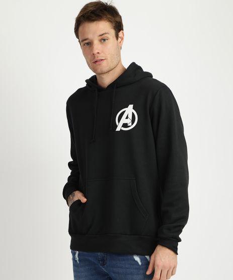 Blusao-de-Moletom-Masculino-Avengers-com-Capuz-e-Bolso-Canguru--Preto-9956617-Preto_1