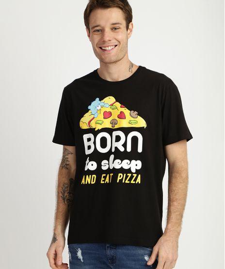Camiseta-Masculina-Ursinhos-Carinhosos-e-Pizza-Manga-Curta-Gola-Careca-Preta-9957593-Preto_1